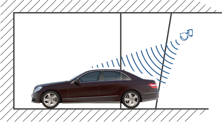 Schick Electronic - Signals + Sensor at front of parking space