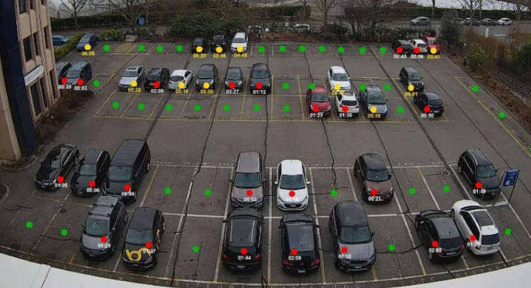 Camera-based outdoor Parking Guidance System